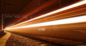 Trem de noite Imagem de Stock Royalty Free