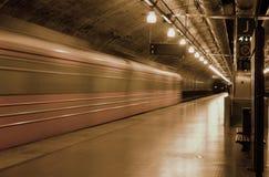 Trem de noite Imagens de Stock Royalty Free