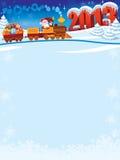Trem de Papai Noel Imagem de Stock Royalty Free