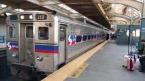 Trem de Philly imagens de stock royalty free