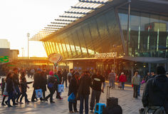 Trem de Stratford e estação de metro internacionais, Londres Foto de Stock Royalty Free