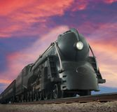 Trem de Streamliner imagens de stock royalty free