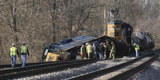 Trem deraled Fotografia de Stock