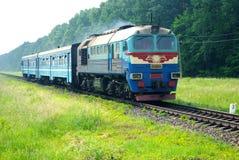 Trem diesel Foto de Stock