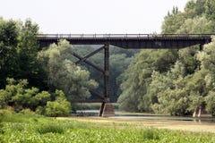Trem distante Tressel Fotografia de Stock