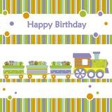 Trem do aniversário Foto de Stock Royalty Free
