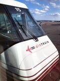 Trem do ar do aeroporto de Newark fotografia de stock royalty free