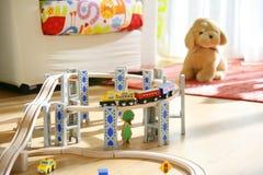 Trem do brinquedo Imagens de Stock