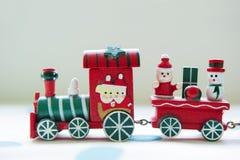 Trem do brinquedo do Natal imagem de stock