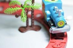 Trem do brinquedo do Pewter com letras Imagens de Stock Royalty Free