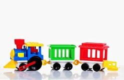 Trem do brinquedo do Pewter com letras Imagem de Stock Royalty Free