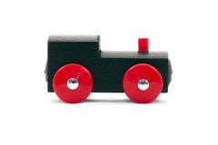 Trem do brinquedo em um fundo branco Fotos de Stock Royalty Free
