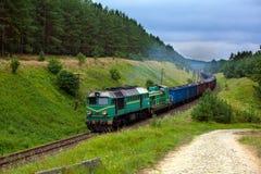 Trem do diesel do frete imagens de stock royalty free