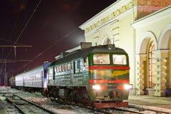 trem do diesel do Frete-passageiro Fotos de Stock Royalty Free
