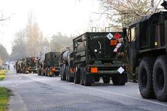 Trem do exército dos EUA, 27 3 2016, República Checa, cruzando-se ao Polônia de Boleslav velho, Imagem de Stock