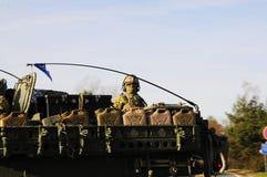 Trem do exército dos EUA, 27 3 2016, República Checa, cruzando-se ao Polônia de Boleslav velho, Foto de Stock Royalty Free