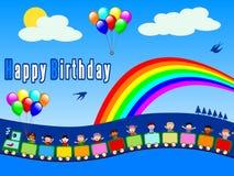 Trem do feliz aniversario [menino 1] Fotografia de Stock