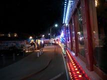 Trem do feriado de inverno em Santa Cruz California Imagem de Stock