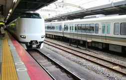 Trem do JÚNIOR de Japão Osaka Fotos de Stock Royalty Free