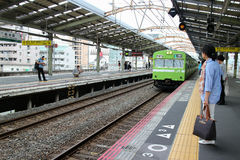 Trem do JÚNIOR de Japão Osaka Fotos de Stock