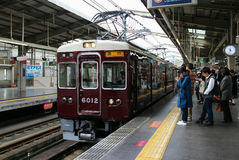 Trem do JÚNIOR de Japão Osaka fotografia de stock