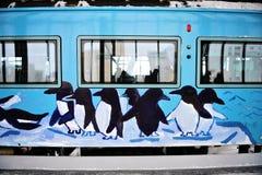 Trem do jardim zoológico de Asahiyama (Japão) Imagem de Stock