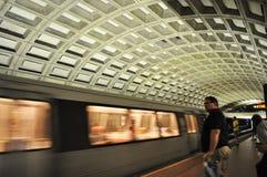 Trem do metro Imagens de Stock Royalty Free