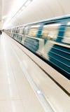Trem do metro Fotos de Stock Royalty Free