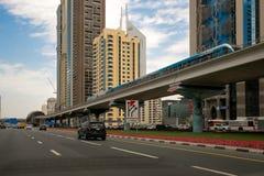 Trem do metro de Dubai, Dubai fotografia de stock royalty free