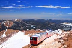 Trem do pico dos piques Fotografia de Stock