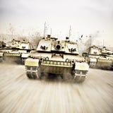 Trem do tanque ilustração royalty free