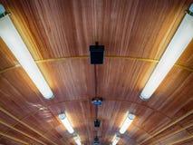 Trem do telhado das luzes de néon Foto de Stock Royalty Free