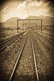 Trem do trilho Fotos de Stock Royalty Free