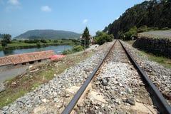 Trem do trilho Foto de Stock