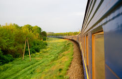 Trem do vapor do vintage fotografia de stock