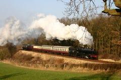 Trem do vapor no campo inglês Foto de Stock