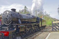 Trem do vapor no goathland, Inglaterra foto de stock royalty free