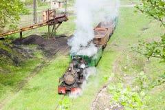 Trem do vapor, Serbia foto de stock