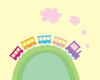 Trem dos desenhos animados Imagem de Stock Royalty Free