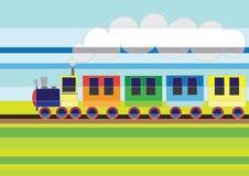 Trem dos desenhos animados Fotos de Stock Royalty Free