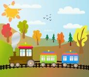 Trem dos desenhos animados Imagem de Stock