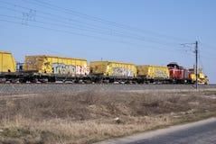 Trem dos grafittis Fotografia de Stock