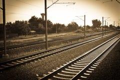 Trem dos trilhos Imagem de Stock