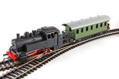 Trem e caboose do vapor do brinquedo Fotografia de Stock Royalty Free