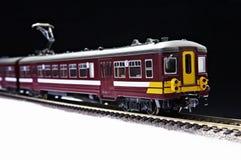 Trem e estrada de ferro do brinquedo Foto de Stock Royalty Free