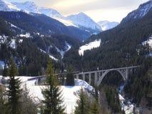 Trem e ponte Fotos de Stock