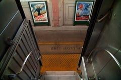 Trem e posteres de tropa fotos de stock royalty free