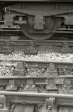 Trem e trilha fotos de stock