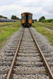 Trem e trilho da estrada de ferro Fotos de Stock Royalty Free