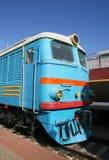 Trem elétrico azul Imagem de Stock
